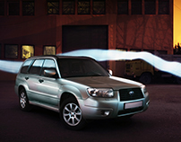Long night with Forester / automotive photography
