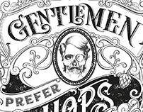 GENTLEMEN PREFER HOPS - t-shirt design