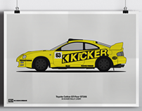 Toyota Celica GT-Four KICKER Poster