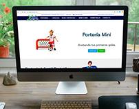Diseño de sitio web Porterías Coral