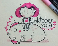 Children and animals inktober 2018