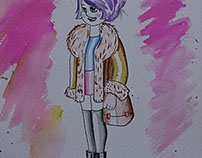 Watercolor Character Design
