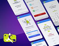 UI design for tennis court system application