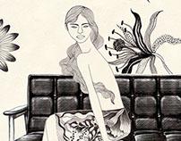 The 50th anniversary poster of  KARIMOKU60 sofa