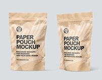 Kraft Paper Stand-up Pouches Mockups