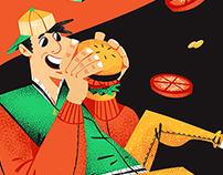Burger Van - Food Truck Illustration