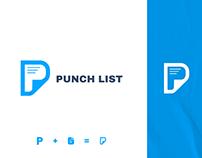 Punch List Logo Design