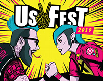 UsFest 2019 - Logo Design & Promotional Material