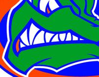 Modern Florida Gator logo concept