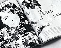 Tegan and Sara Magazine Article Design