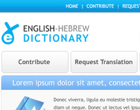Online Dictionary Website