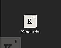 K-Boards a keyboards company brand logo