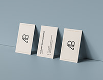 Triple Business Card Mockup
