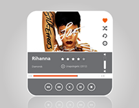 Music Player Flat UI