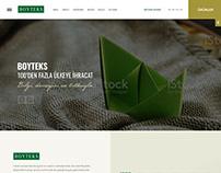 Boyteks web sitesi tasarımı