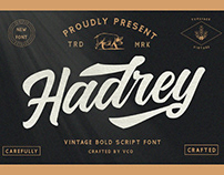FREE | Hadrey Vintage Bold Script