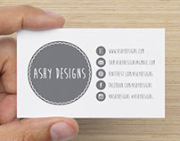 Ashy Designs Business Card and Logo