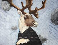 Le caribou prude