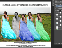 Clippping Masks and Adjustment Layers