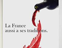 Publicité pour la France en Chine.