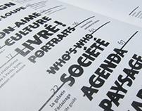 Projet d'édition magazine Wallpaper
