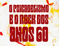 The Psychedelic Rock from the 60's Typography