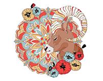 Zodiac Mandala Coloring Book