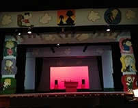 Set for the play 'You're A Good Man, Charlie Brown'