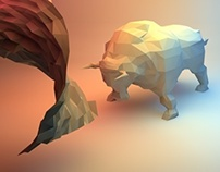 Low Poly Animals with Minimal Props : Test Project