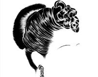 EVA'S HAIR:Illustration