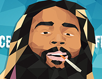 Illustration Web - Low Poly : Juice,Flatbush Zombies
