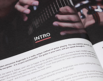 Guitar teach book (book cover and interior design)