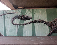 """Mural - Dark Forest"" (Freiburg/Germany)"