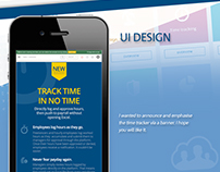 Time Tracker for HR Admin Panel UI re-design case study