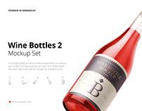 Sparkling Wine Bottle Mockup