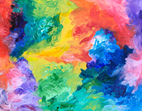 Ecstatic Colors (a finger painting)