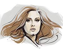Adele portrait - personal work