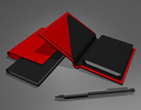 3D Model Leather Diary