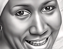 Aretha Franklin Digital Painting by Wayne Flint