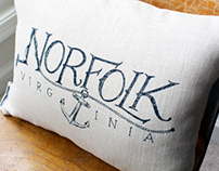 Norfolk, Virginia Pillow