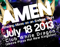 A.M.E.M - Amazing Mixes on an Endless Night Flyer Art