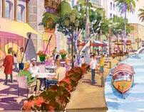 Michael Abbott's Architectural Watercolor Sketches