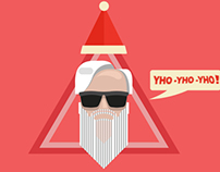 Hipster Santa - Christmas cover of my facebook -
