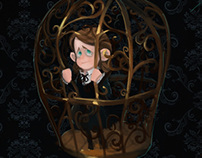Trapped in a birdcage