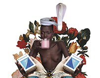 Queen B - Collage Digital