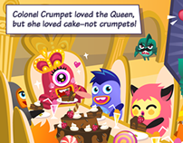 Yumby Smash app game story cards