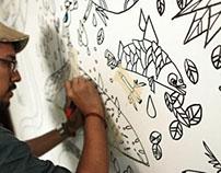 LaSalle College Barranquilla interior mural
