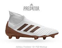 Adidas Predator 18+ FREE PSD Mockup
