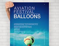 Плакат фестиваля воздушных шаров