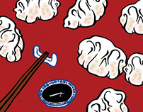 Dumplings Pattern Design